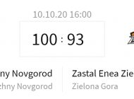 Zastal Enea - Nihzny Nowogród. Trzecia porażka zielonogórzan (100:93)